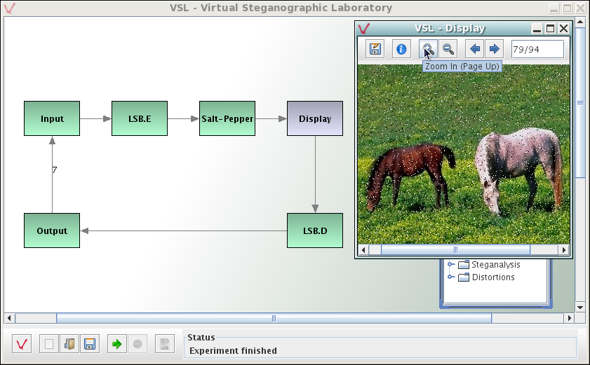 VSL: free steganography and steganalysis tool